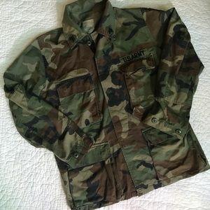 US army vintage camo shirt jacket